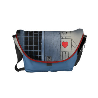 Robot love messenger bags