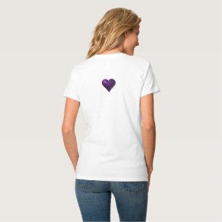 """""""Robot Love"""" Women's Hanes Nano V-Neck T-Shirt"""