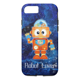 Robot Lover Outer Space Spare Parts iPhone Case
