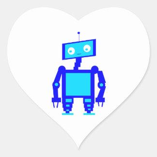 Robot mignon sticker cœur