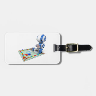 Robot Playing A Board Game Luggage Tag