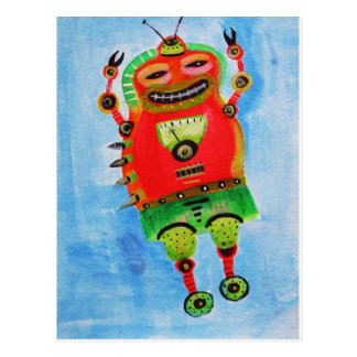 ROBOT Pop ART Postcard