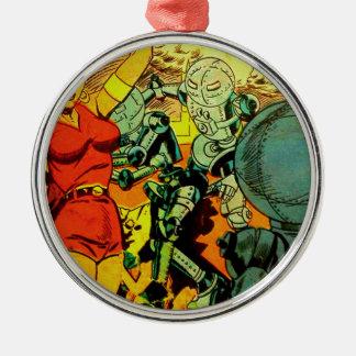 Robot Revolution Metal Ornament