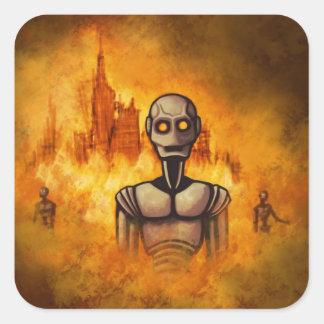 robot revolution scifi sticker