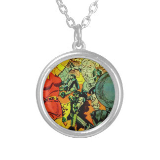 Robot Revolution Silver Plated Necklace