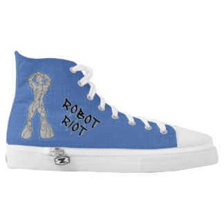 Robot Riot 9 High-Top Sneakers