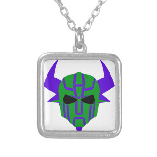ROBOT RODEO 3 SILVER PLATED NECKLACE