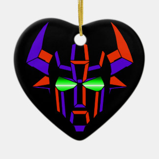 ROBOT RODEO Black Style Ceramic Heart Ornament