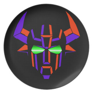ROBOT RODEO Black Style Party Plates