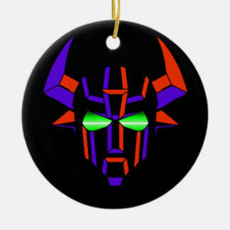 ROBOT RODEO Black Style Round Ceramic Ornament