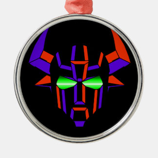 ROBOT RODEO Black Style Silver-Colored Round Ornament
