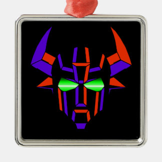 ROBOT RODEO Black Style Silver-Colored Square Ornament
