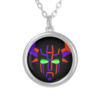 ROBOT RODEO Black Style Silver Plated Necklace