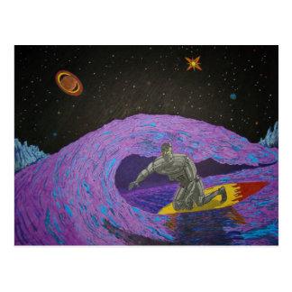 Robot Rusty McBolt's Surfin' Vacation Postcard