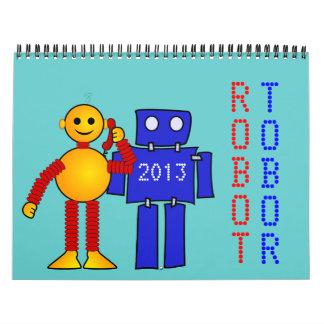 Robot sci-fi cartoon fun science fiction calendars