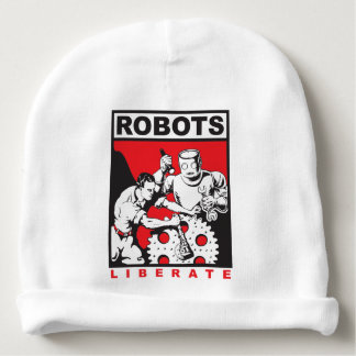 Robot sets you free baby beanie