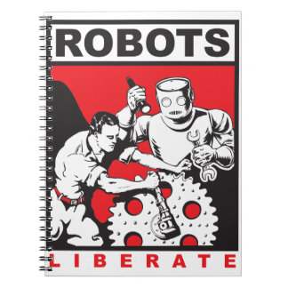 Robot sets you free notebooks