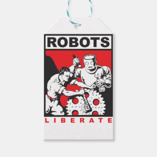Robot sets you free pack of gift tags