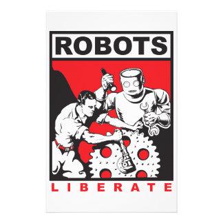 Robot sets you free stationery