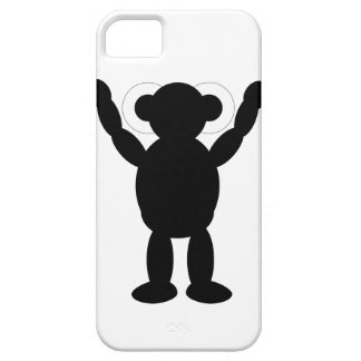 robot silhouette iPhone 5 case