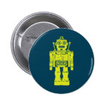 Robot Sticker 2 Inch Round Button