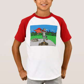 Robot Superhero Retro Kid's Shirt
