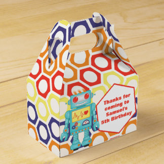 Robot Themed Party Favor Box