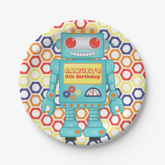 Robot Themed Party Paper Plate