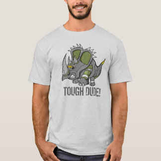 Robot Triceratops Dinosaur Tough Dude T-Shirt