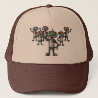 robot trucker hat