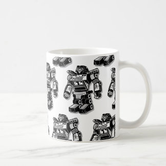 Robot warrior coffee mug