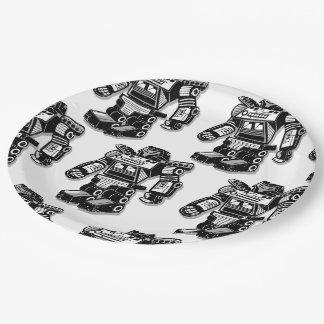 Robot warrior paper plate
