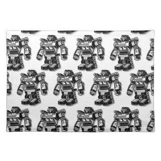 Robot warrior placemat