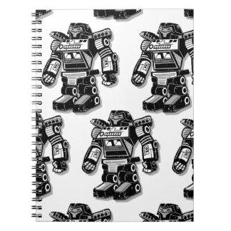 Robot warrior spiral notebook