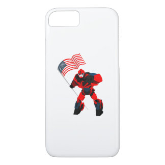 Robot with American Flag Boys for 4th of July iPhone 8/7 Case