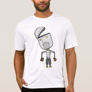 Robot With An Open Head Mens Active Tee