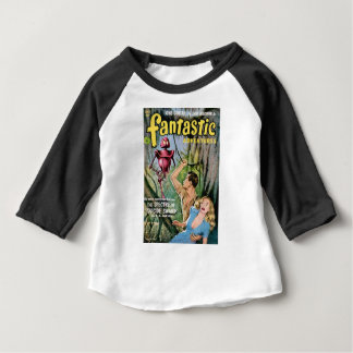 Robot with Mean Eyes Baby T-Shirt