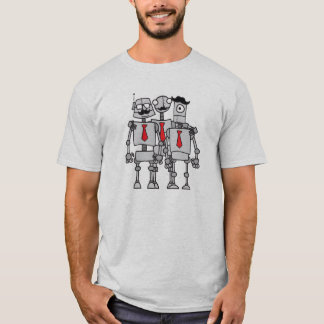 Robot Workers in a Group Photo T-Shirt