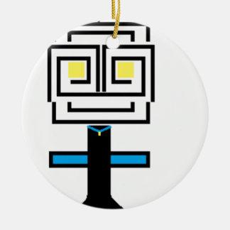 ROBOTIC CARTOON A CERAMIC ORNAMENT