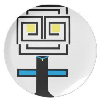 ROBOTIC CARTOON A PLATE
