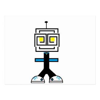 ROBOTIC CARTOON A POSTCARD