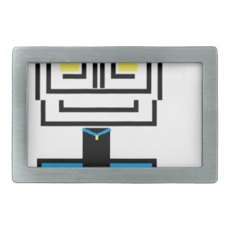 ROBOTIC CARTOON A RECTANGULAR BELT BUCKLE