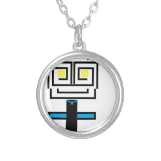 ROBOTIC CARTOON A SILVER PLATED NECKLACE