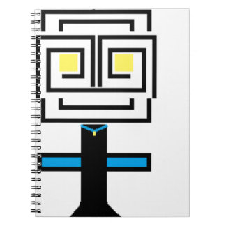 ROBOTIC CARTOON A SPIRAL NOTEBOOK