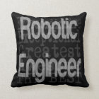 Robotic Engineer Extraordinaire Throw Pillow
