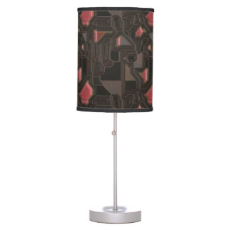 Robotic Pink Cyborg Panel Table Lamp