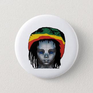 Robotics Rastafarian 2 Inch Round Button
