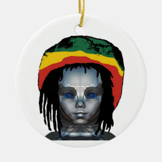 Robotics Rastafarian Ceramic Ornament