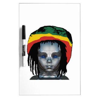 Robotics Rastafarian Dry Erase Board