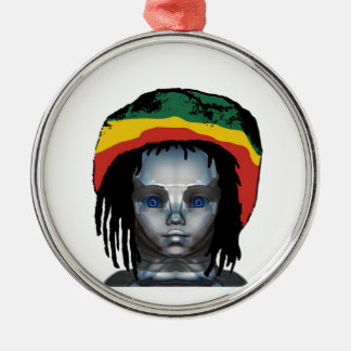 Robotics Rastafarian Metal Ornament